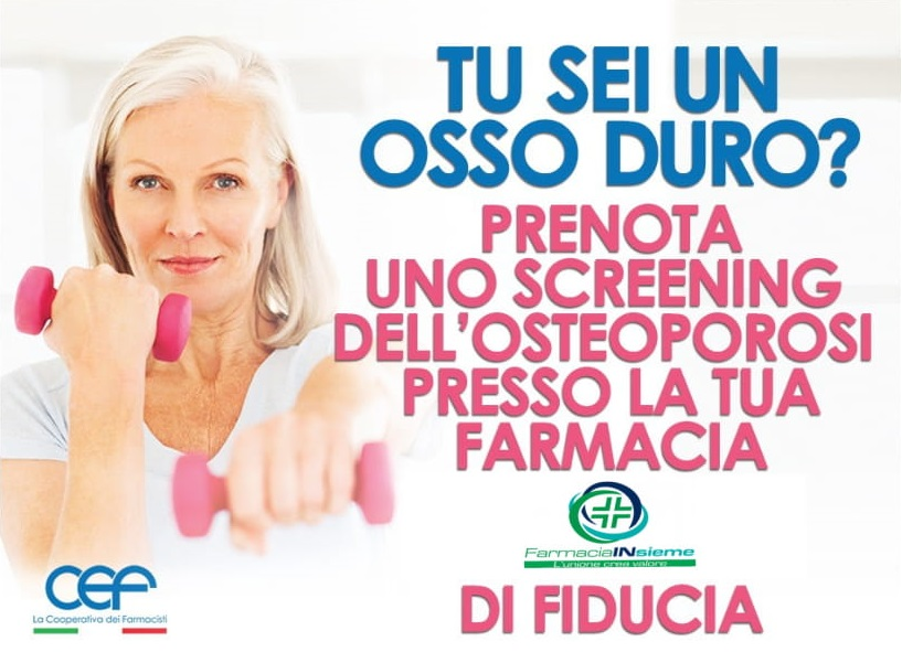 Screening Osteoporosi: mercoledì 26 febbraio